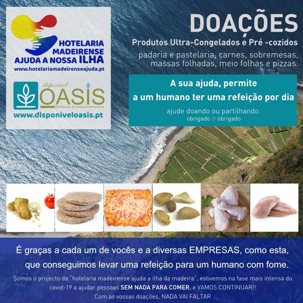 Doações de Produtos Alimentares Ilha da Madeira